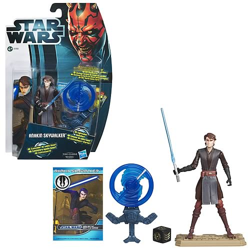 Star Wars Clone Wars 2012 Anakin Skywalker Figure, Not Mint