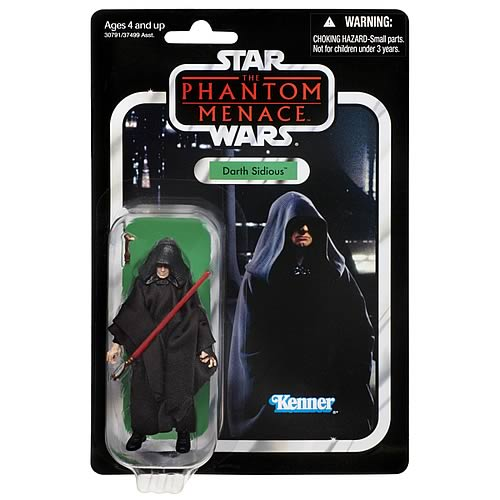 Star Wars 2012 Vintage Darth Sidious Figure, Not Mint