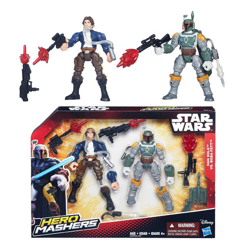 Star Wars Hero Mashers Han Solo vs. Boba Fett, Not Mint