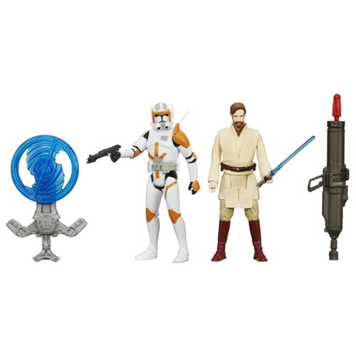 Star Wars Obi-Wan and Commander Cody Figures, Not Mint discount price 2016
