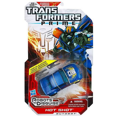 Transformers Prime Deluxe Hot Shot Figure, Not Mint