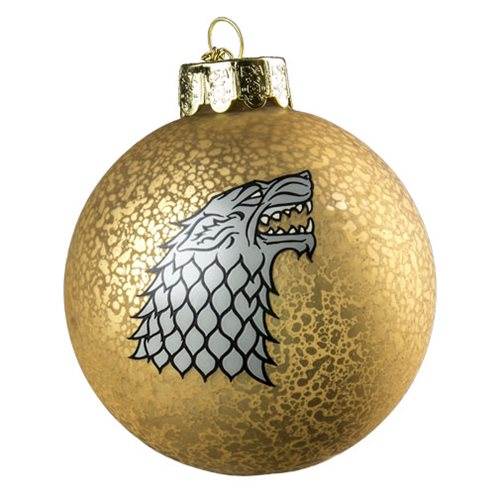 Game of Thrones Stark Crest Decal Ball Ornament, Not Mint