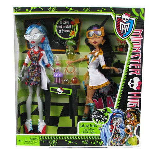 Monster High Classroom 2-Pack Dolls Cleo & Ghoulia, Not Mint