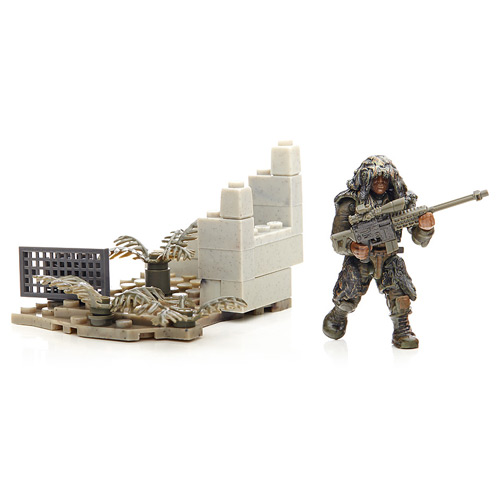 Mega Bloks Call of Duty Ghillie Suit Sniper Figure, Not Mint