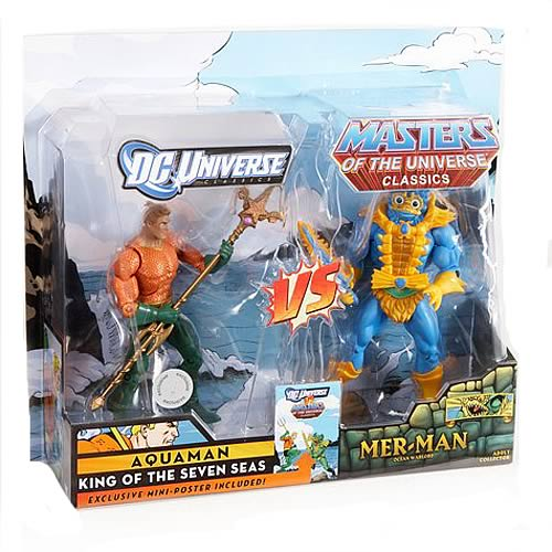 DCU vs. MOTU Aquaman Vs MerMan Figures 2-Pack, Not Mint