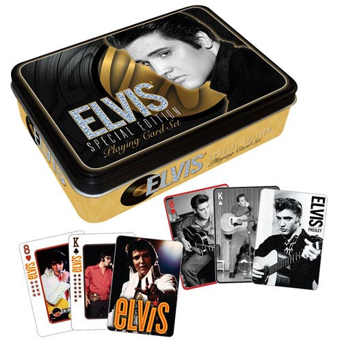 Elvis Presley Gold Playing Card Tin Set