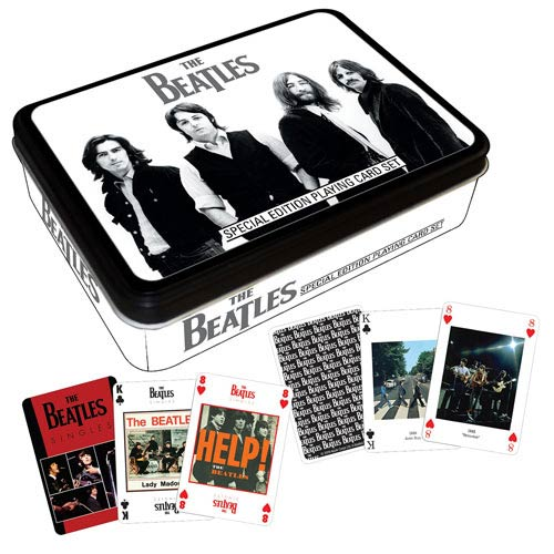 Beatles Black Playing Card Tin
