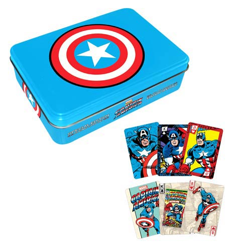 Captain America Playing Card Set with Tin