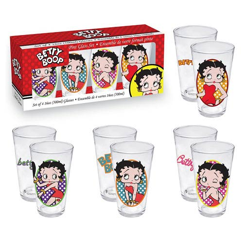 Betty Boop Pint Glass 4-Pack