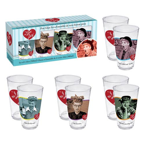 I Love Lucy Pint Glass 4-Pack