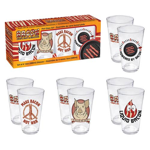 Bacon Pint Glass 4-Pack