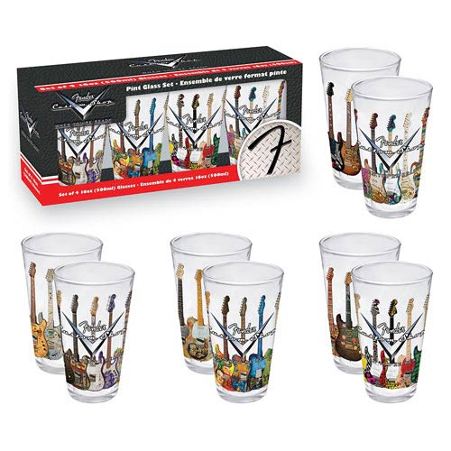 Fender Custom Guitars Pint Glass 4-Pack