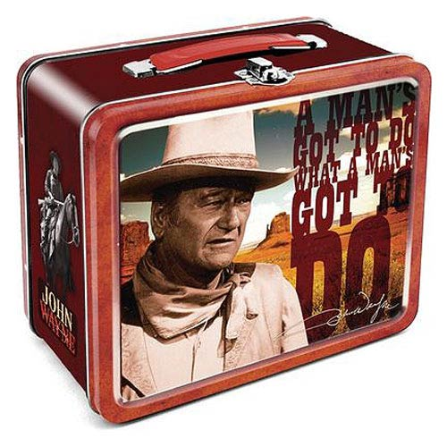 John Wayne A Man's Gotta Do Large Fun Box Tin Tote