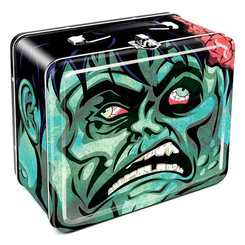 Zombie Head Large Fun Box Tin Tote