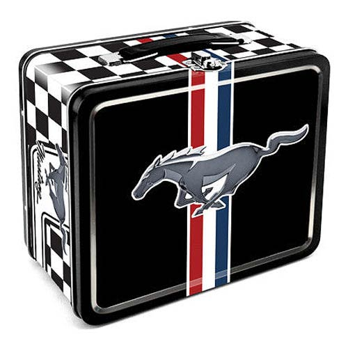Ford Mustang Logo Large Fun Box Tin Tote