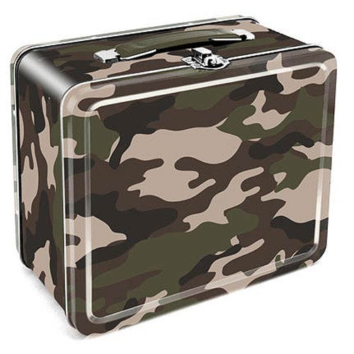 Camouflage Tin Lunch Box
