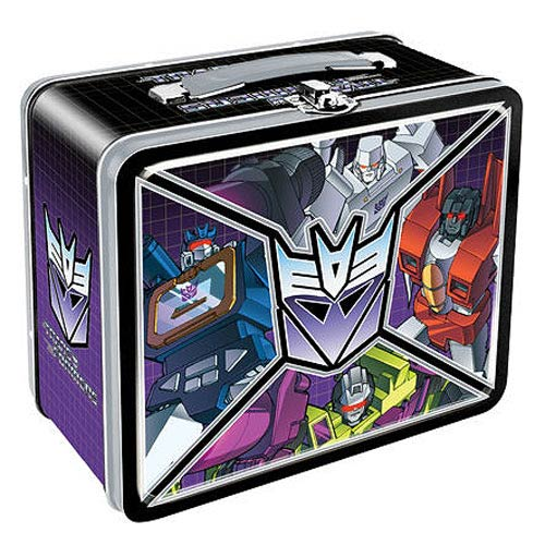 Transformers Decepticons Tin Lunch Box