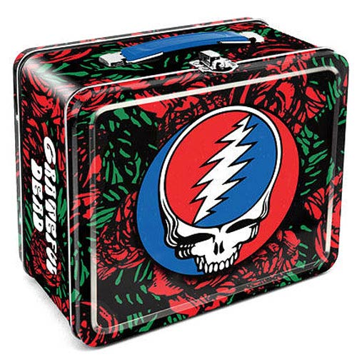 Grateful Dead Roses Logo Tin Lunch Box