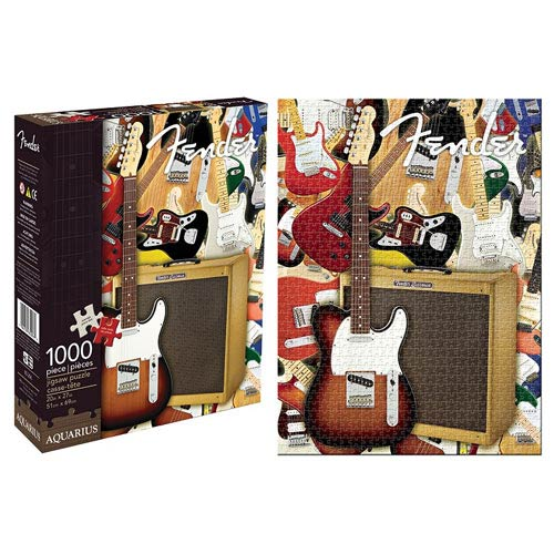 Fender Guitar Collage 1,000-Piece Puzzle