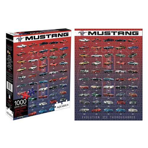 Ford Mustang Evolution 1,000-Piece Puzzle