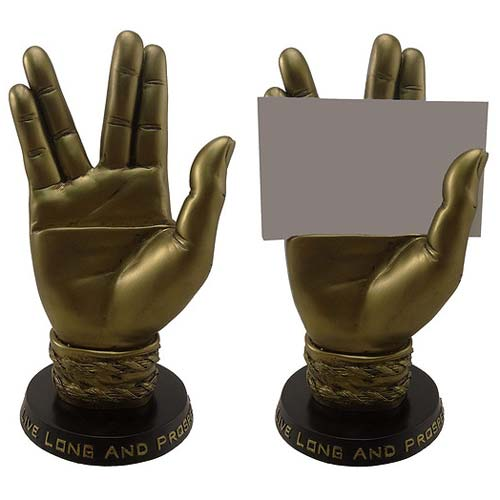 Star Trek Mr. Spock Business Card Holder Statue