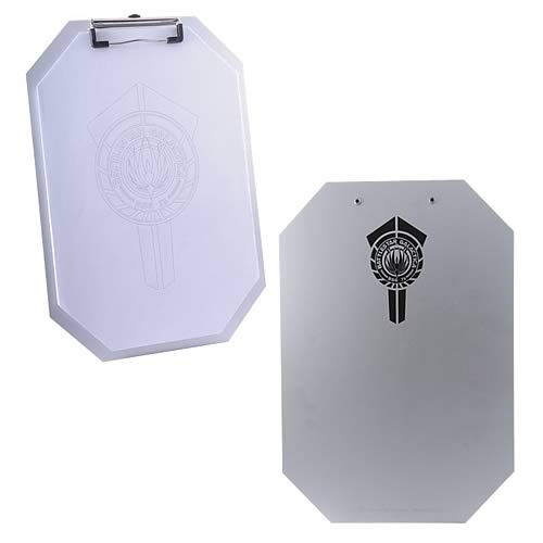 Battlestar Galactica Clipboard and Paper Prop Replica Set