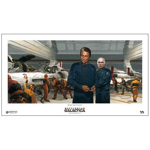 Battlestar Galactica Hangar Deck Scramble Fine Art Print