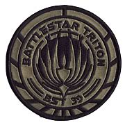 Battlestar Galactica Triton BST39 Variant Premium Ship Patch