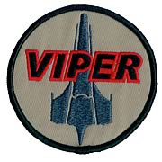 Battlestar Galactica Viper Pilot Premium Ship Patch