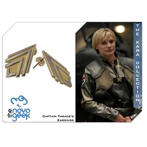 Battlestar Galactica Captain Kara Thrace Earrings