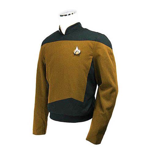 Star Trek the Next Generation Gold Service Tunic Replica