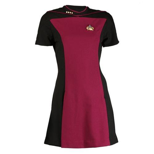 Star Trek TNG Woman's Skant Command Red Uniform Dress