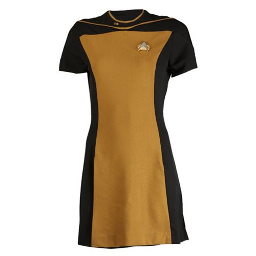 Star Trek TNG Woman's Skant Operations Yellow Uniform Dress