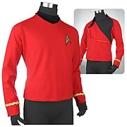Star Trek: TOS Third Season Ship's Services Red Tunic