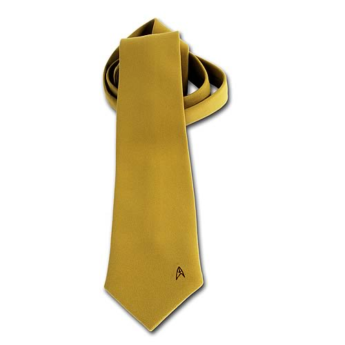 Star Trek Costume Fabric Gold Neck Tie