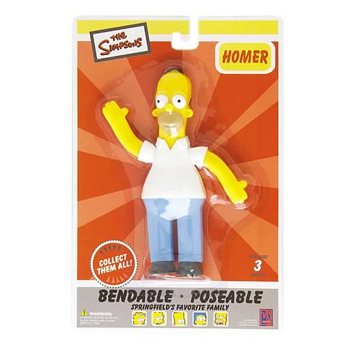 Simpsons Homer Simpson Bendable Figure