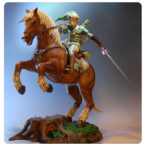 Legend of Zelda Twilight Princess Link on Epona Statue