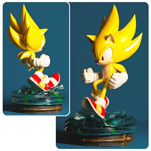 Sonic The Hedgehog Modern Super Sonic Statue First 4