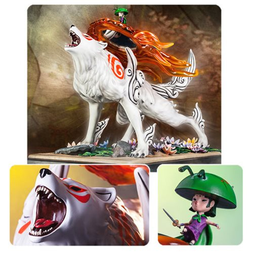 This Okami Wolf Statue Will Make You Howl with Joy!