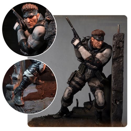 Картинки по запросу Metal Gear Statues - Metal Gear Solid Snake Statue