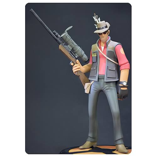 Team Fortress 2 RED Sniper 14-Inch Statue