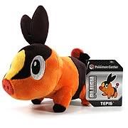 Pokemon Center Black and White Tepig Plush