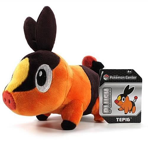 Pokemon Center Black and White Tepig Plush