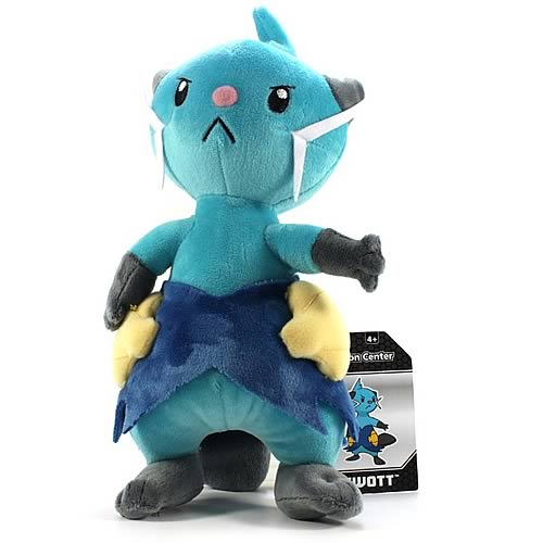 Pokemon Center Black and White Dewott Plush