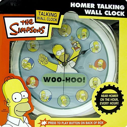 Homer Simpson Talking Wall Clock