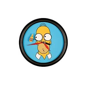 Homer Simpson Moving Eyes Clock