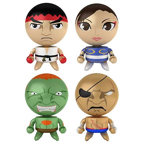 Street Fighter Series 3 Bobble Budd Bobble Head Set