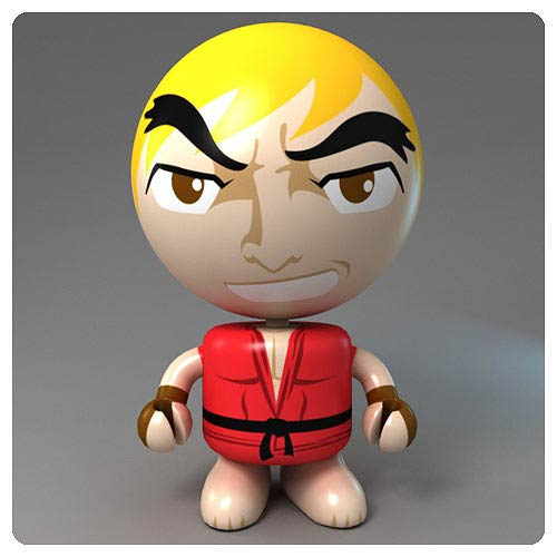 Street Fighter Round 2 Ken Bobble Budd Bobble Head