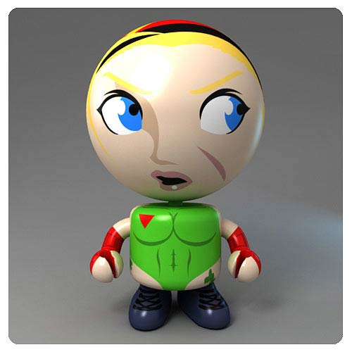 Street Fighter Round 2 Cammy Bobble Budd Bobble Head