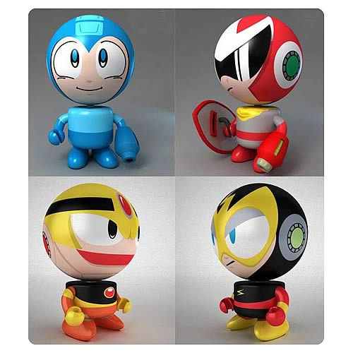 Mega Man Bobble Budd Bobble Head Set